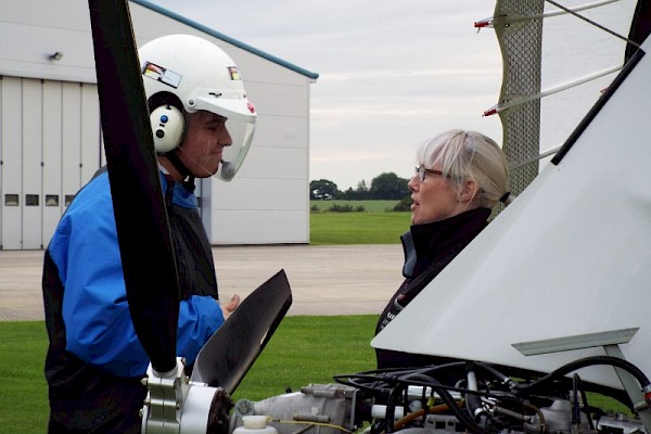 Microlight flight experience for Spitfire Air Explorers