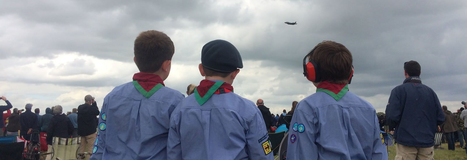 Sywell Air Scouts at RIAT Watching a Lightning II