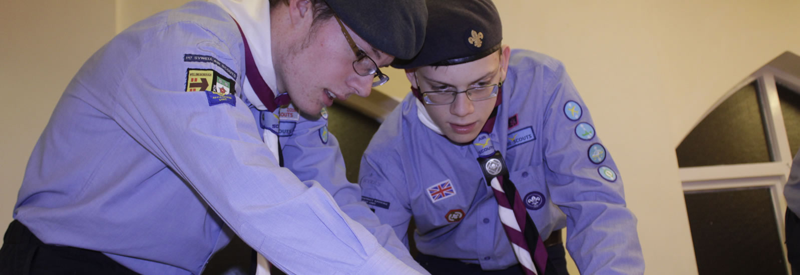 Spitfire Air Explorers Working on a Project
