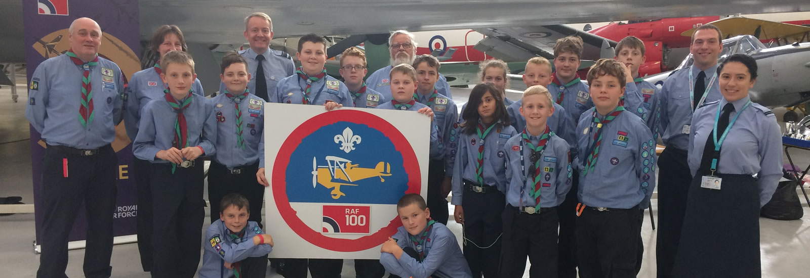 1st Sywell Air Scout Group Celebrating RAF100